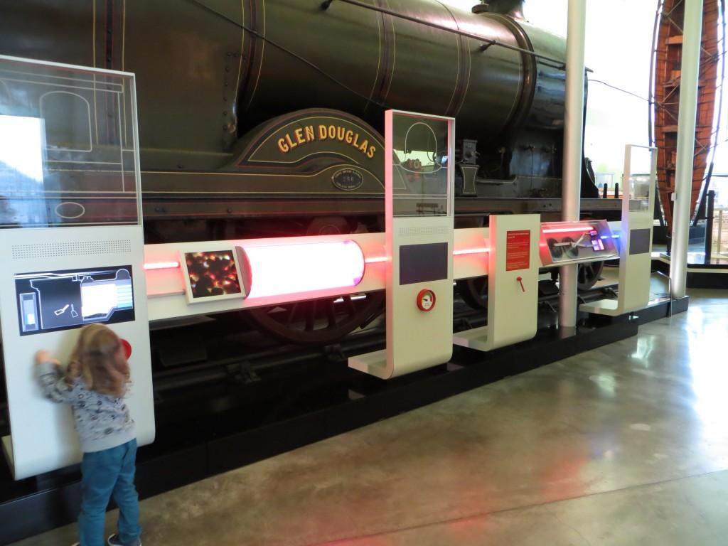 Glen Douglas locomotive bybridhybrid interactive exhibit