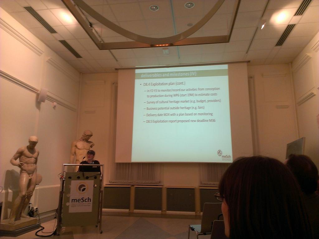 meSch coodrinator Daniela Petrelli presenting WP 9 Project management and coordination.