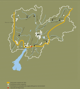 A map of Trento.