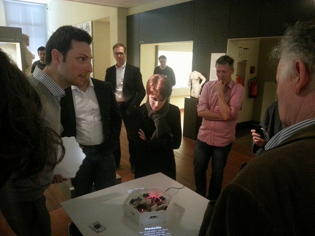 Ultimately, meSch interactives have to work in any kind of heritage institution, as demonstrated here with the Plinth prototype at the Allard Pierson Museum during the first project review.