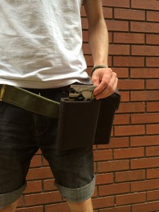 The belt prototype that will be tested in the trenches of Nagià Grom, Italy (picture: Daniela Petrelli for meSch)